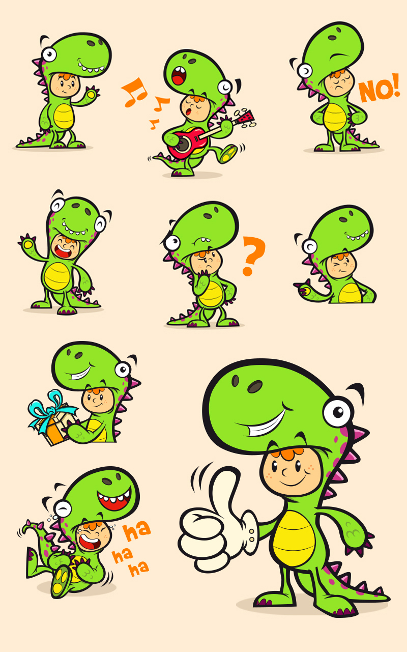 "dinoboy-1 del proyecto ""Stickers Digitaes"